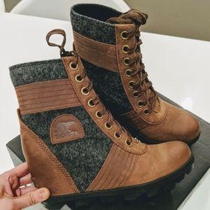 Sorel Lexie Hidden Wedge-Heel Leather Booties 8